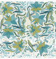 folk pattern seamless textile design with bright vector image vector image