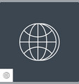 globe related line icon vector image vector image