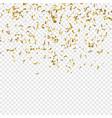goldenl confetti vector image vector image