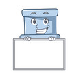 grinning with board toilet character cartoon style vector image vector image