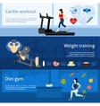 Gym Workout Banner vector image vector image