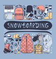hand drawn fashion snowboarding thing vector image