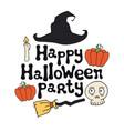 happy halloween party halloween theme handdrawn vector image vector image