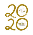 happy new year 2020 design template design for vector image