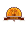 happy thanksgiving day celebratory banner vector image vector image