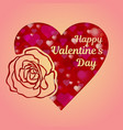 happy valentines day greeting card or banner a vector image vector image