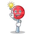 have an idea sweet lollipop character cartoon vector image vector image