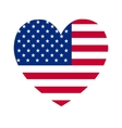 heart of America flag vector image vector image