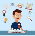 high school education cartoon vector image vector image