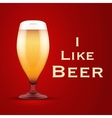 I like beer vector image
