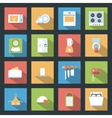 Kitchen flat icons set vector image vector image