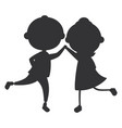little children silhouette avatars characters vector image