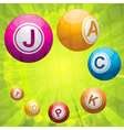 lottery or bingo balls forming the word jackpot vector image vector image