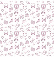 love outline pattern - valentines day vector image vector image