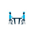 meeting room icon colored symbol premium quality vector image