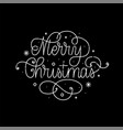merry christmas line art retro calligraphy design vector image