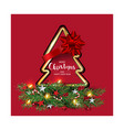 modern holidays christmas background banner vector image vector image