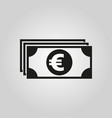 money icon euro and cash coin currency bank vector image