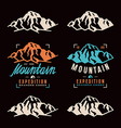 Mountain expedition labels vector image
