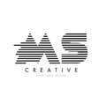 ms m s zebra letter logo design with black and vector image