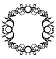 Ornament black 70 vector image vector image