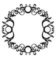 Ornament black 70 vector image vector image