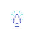 podcast line icon with mike vector image vector image