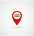 red location icon for ferry eps file vector image