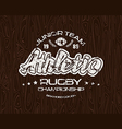 Rugby emblem with shabby vector image vector image