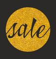 sale sign on golden background vector image
