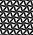 Seamless monochromatic geometric pattern vector image vector image