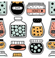 seamless pattern with doodle jars vector image vector image