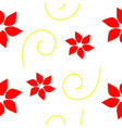 seamless petal patterns vector image vector image