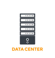 server data center icon vector image vector image