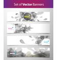 set abstract web headers vector image vector image