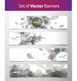 Set of abstract web headers vector image vector image