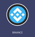 set of physical golden coin binance coin bnb vector image vector image