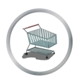 Shopping cart icon in cartoon style isolated on vector image vector image
