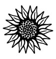 sign flower icon simple style vector image