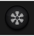 Snowflake icon Eps10 Easy to edit vector image vector image