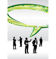 speech business people vector image