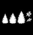 spruce trees and branches silhouettes vector image