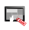 tablet on sale vector image vector image