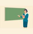 teacher teaching in front class room vector image vector image