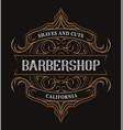 vintage lettering for barbershop vector image vector image