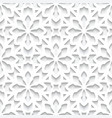 white lace pattern cutout paper seamless texture vector image
