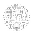 Winemaking wine tasting graphic design concept vector image