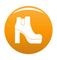woman shoes icon orange vector image