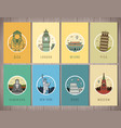 world landmarks collection travel and tourism vector image vector image
