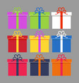 wrapped colorful gift vector image vector image